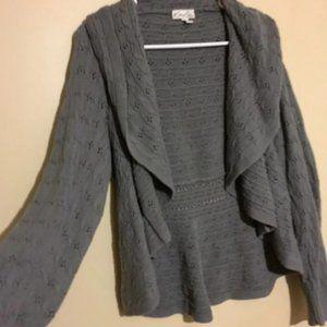 Petite xlarge grey cardigan by Kim Rogers